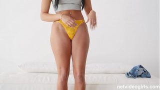 19 Year Old With A PERFECT hour glass figure has sex during audition