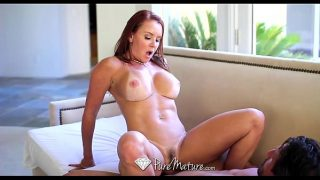 HD – PureMature Bathing Janet Mason gets juicy creampie